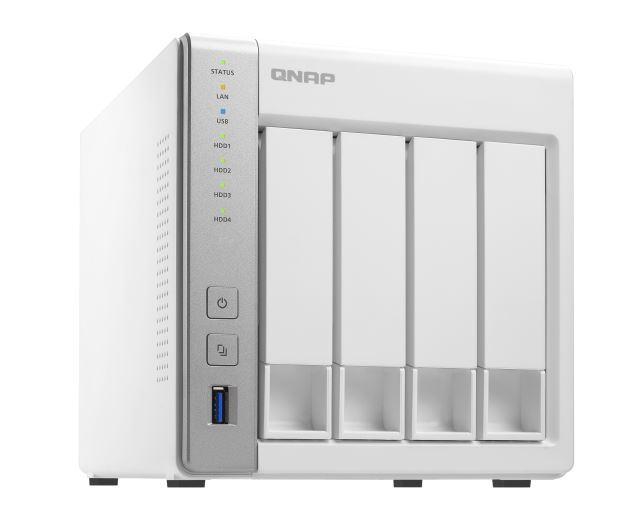 QNAP TS-431P2-1G, 4BAY (NO DISK), 1GB, AL314 Quad core, USB 3.0(3), GbE(2), TWR, 2YR image
