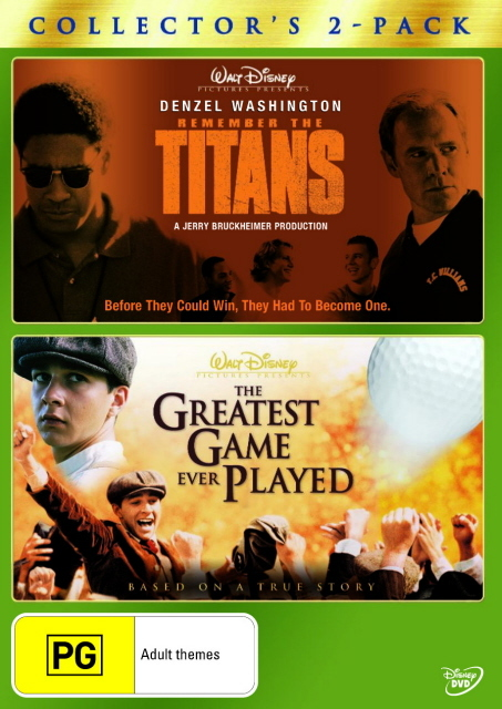 Remember The Titans / The Greatest Game Ever Played - Collector's 2-Pack (2 Disc Set) on DVD