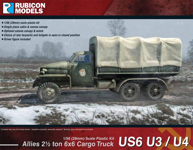 Rubicon 1/56 US6 U3/U4 (Studebaker) 2.5 Ton Truck