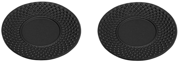 Teaology: Cast Iron Coasters - Hobnail Black (Set of 2)