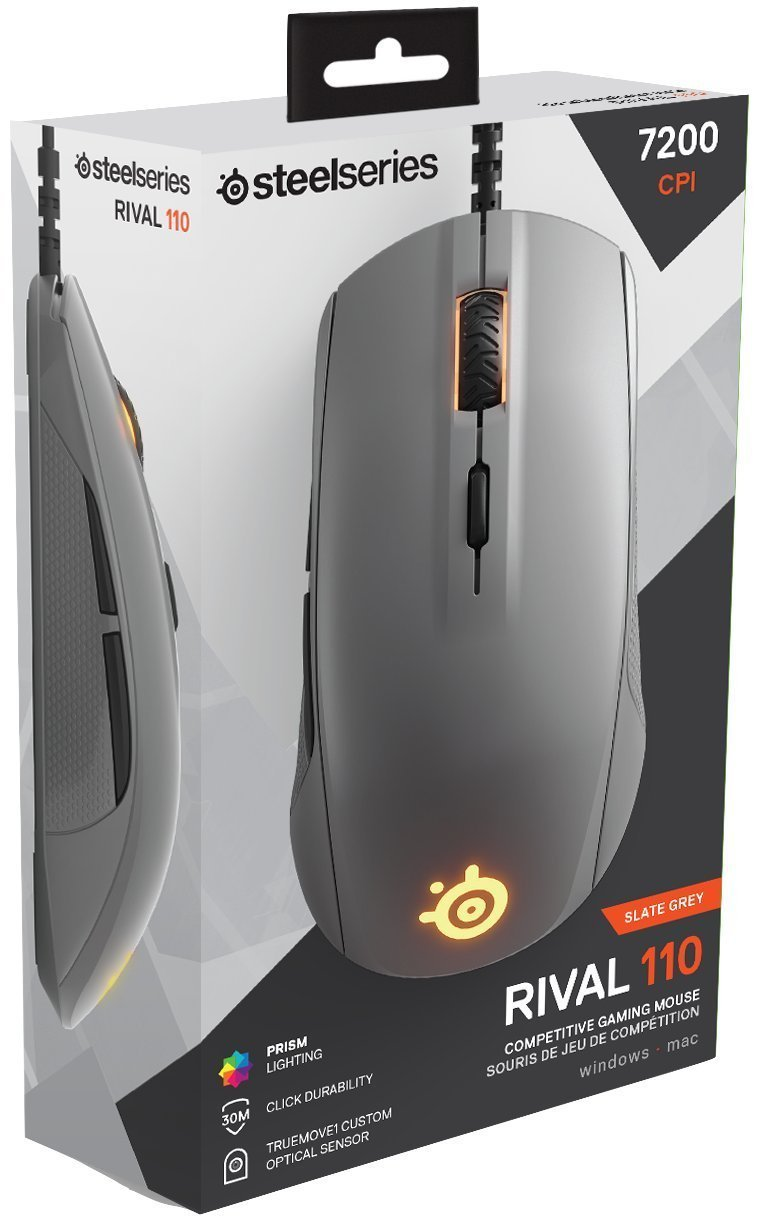 SteelSeries Rival 110 Gaming Mouse - Slate Grey for PC Games image