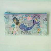 Natural Life: Recycled Zip Pencil Bag - Mermaids (Large)