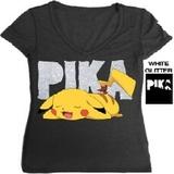 Pokemon Pikachu Ladies T-Shirt (Small)