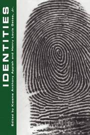 Identities by Kwame Anthony Appiah image