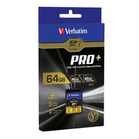 Verbatim Pro+ SDXC UHS-I U3 Memory Card - 64GB image