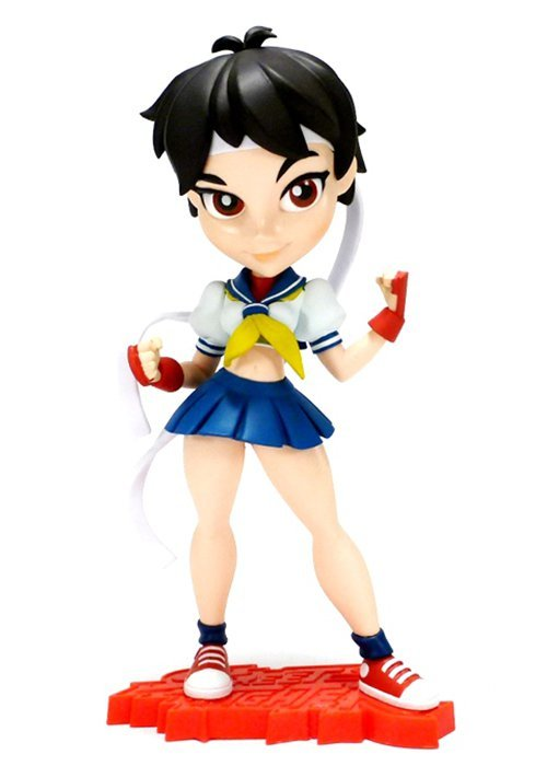 "Street Fighter - Sakura 7"" Knockouts Vinyl Statue"