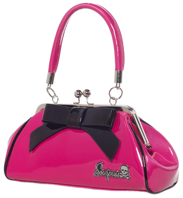 Sourpuss: Super Floozy Purse (Pink & Black)