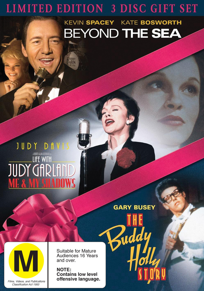 Beyond The Sea / Life With Judy Garland / Buddy Holly Story - Limited Edition 3 Disc Gift Set (3 Disc Set) on DVD image