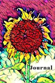 Pretty Yellow Sunflower Cute Flower Lover's Woman's Blank Lined Journal for daily thoughts Notebook by Sandy Closs image