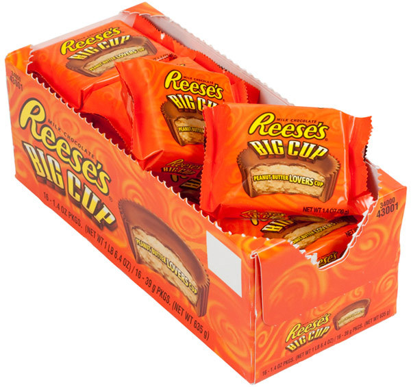 Reese's Big Cup Peanut Butter Cups 39g (16 Pack)