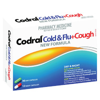 Codral PE Cough/Cold/Flu Day & Night Capsules (24's)