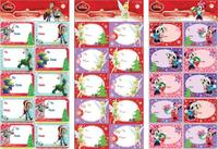 Disney Christmas Gift Labels (Girl)