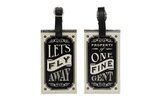 The Dapper Chap: Let's Fly Away Luggage Tag