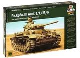Italeri: 1:56 Pz.KPFW.III Ausf.J/L/MN (Warlord Games) - Model Kit