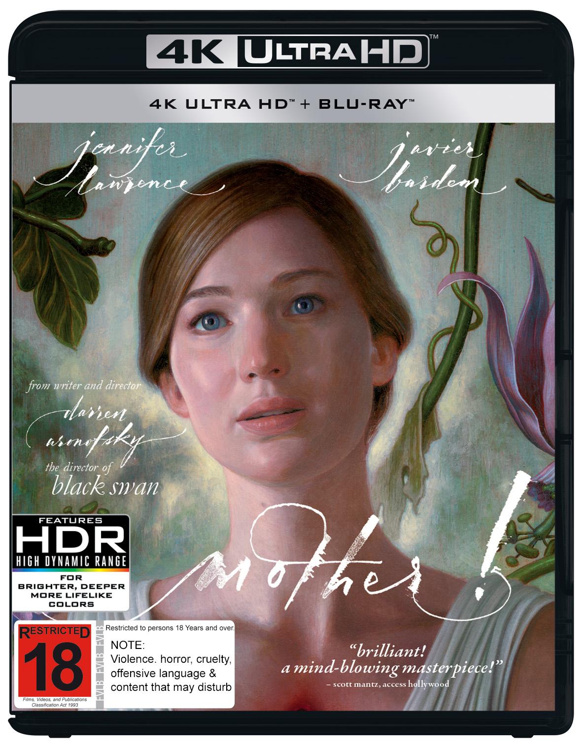 Mother! on UHD Blu-ray image