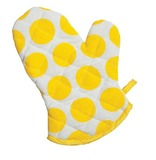 General Eclectic Single Oven Mitt - Yellow Spots