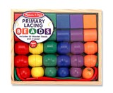 Melissa & Doug: Primary Wooden Lacing Beads