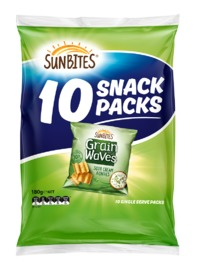 Sunbites Grain Waves - Sour Cream & Chives (10 pack) image