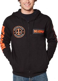 Deadpool: Multi Logo Zip Hoodie - (XL)