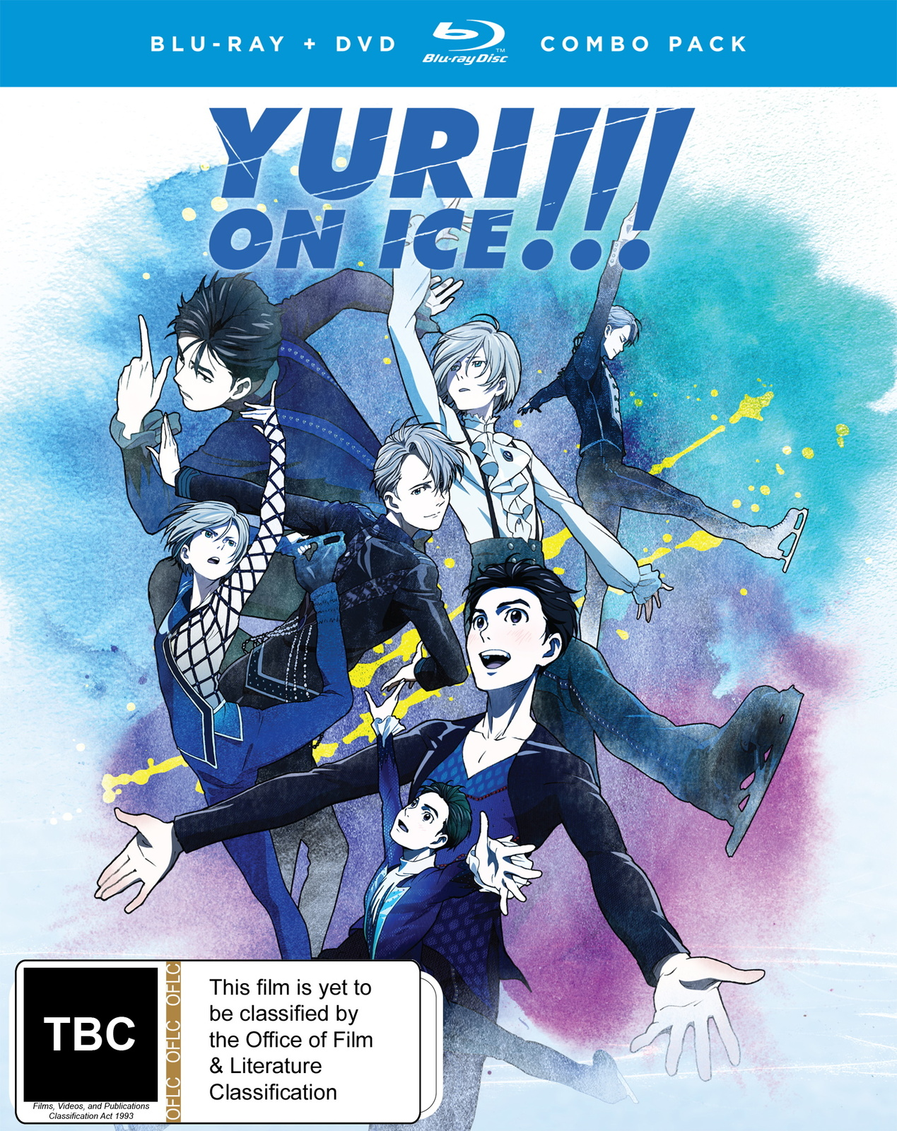 Yuri!!! On Ice Complete Series Dvd / Blu-ray Combo on DVD, Blu-ray image