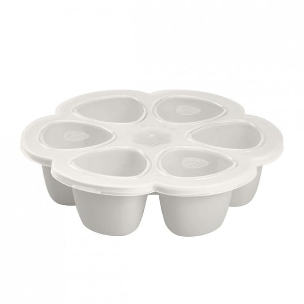 Beaba: Silicone Multi Portions 6x90 ml Light Grey