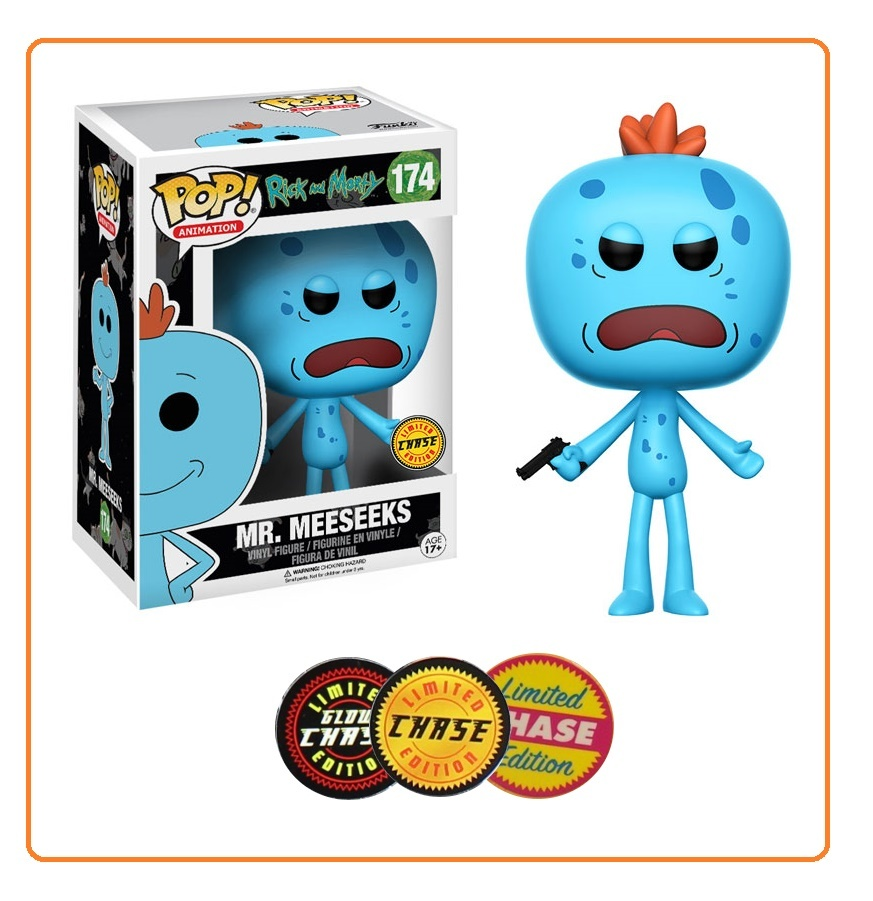 Rick & Morty – Mr. Meeseeks Pop! Vinyl Figure (with a chance for a Chase version!) image