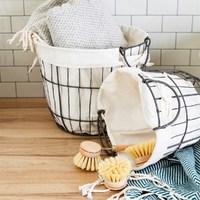 Sass & Belle: Round Wire Storage Baskets With Lining image