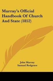 Murray's Official Handbook Of Church And State (1852) by John Murray image