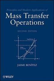 Principles and Modern Applications of Mass Transfer Operations by Jaime Benitez image