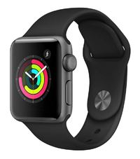 Apple Watch Series 3 GPS with Black Sport Band - Space Grey Aluminium Case (38mm)