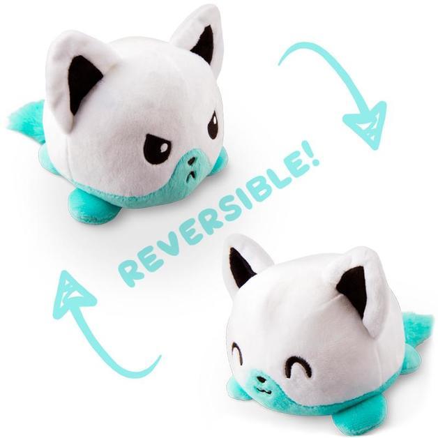 TeeTurtle: Reversible Mini Plush - Fox (White/Aqua)