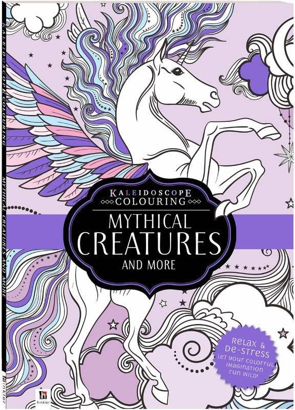 Kaleidoscope: Colouring Book - Mythical Creatures and More