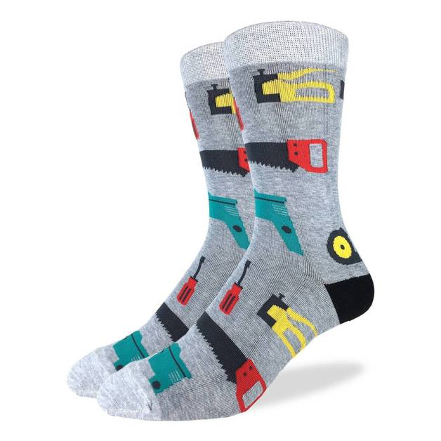 Good Luck Socks: Men's Tools Socks - Shoe Size 7-12