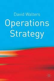 Operations Strategy by David Walters image