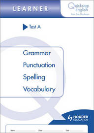 Quickstep English Test A Learner Stage by Sue Hackman image