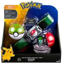 Pokémon: Poke Ball Belt (Grass) - Clip N Carry Set