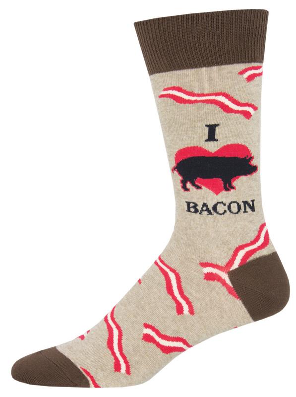 Socksmith: Mens Mmm Bacon - Hemp Heather