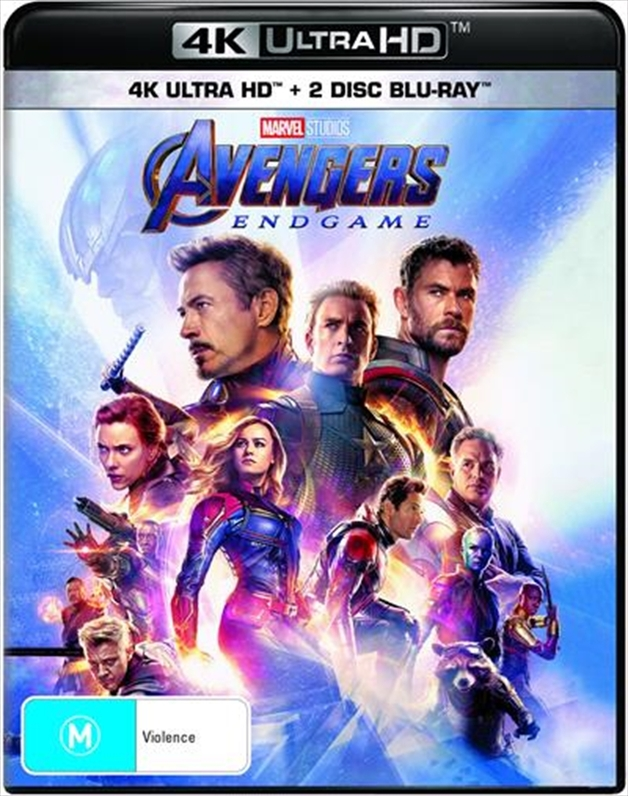 Avengers: Endgame on Blu-ray, UHD Blu-ray