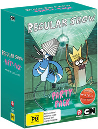 Regular Show Party Pack with Plush Toy on DVD