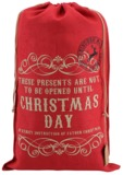 Red Hessian Sack - Christmas Day