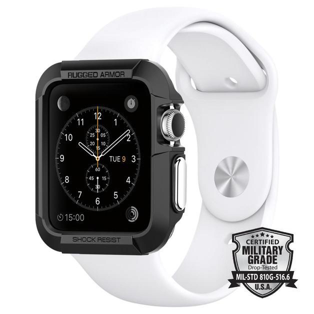 Spigen: Apple Watch - Rugged Armour Case (Black)