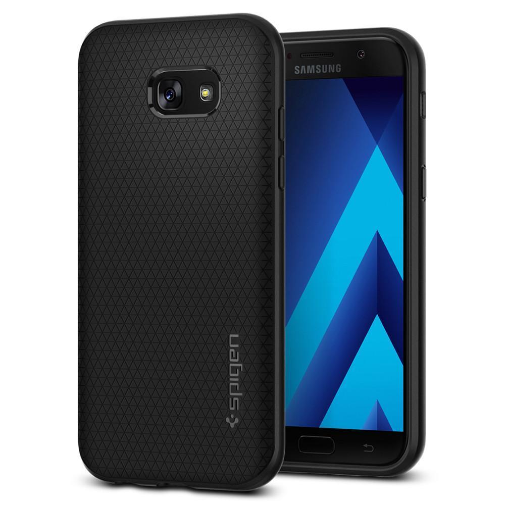 Spigen: Galaxy A5 - Liquid Air Case (Black) Thin and lightweight,Premium Matt TPU Case, Easy Grip +Design, 573CS21143 image