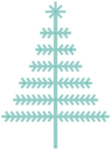 Kaisercraft: Decorative Die - Scandi Christmas Tree