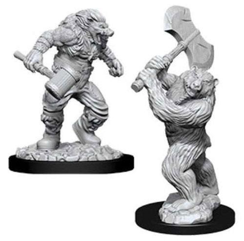 D&D Nolzur's Marvelous: Unpainted Miniatures - Wereboar & Werebear