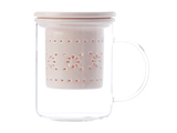 Maxwell & Williams - Lille Glass Mug with Infuser Pink (350ml)