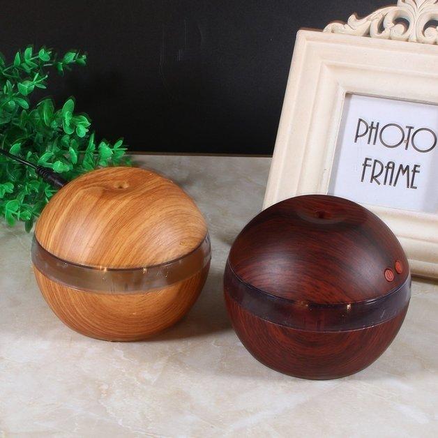 Mini Ultrasonic Portable USB Humidifier - Light Wood