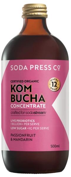 Soda Press Passionfruit & Mandarin Kombucha - 500ml