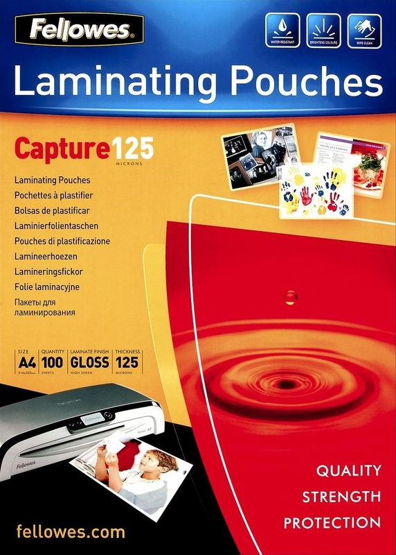 Fellowes Laminating Pouches - A4 - 125 Micron Pack 100
