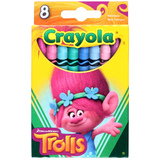 Crayola: Trolls Themed Crayons - 8 Pack