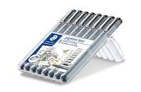 Staedtler Fineliner Pigment Liner (Pack of 8)